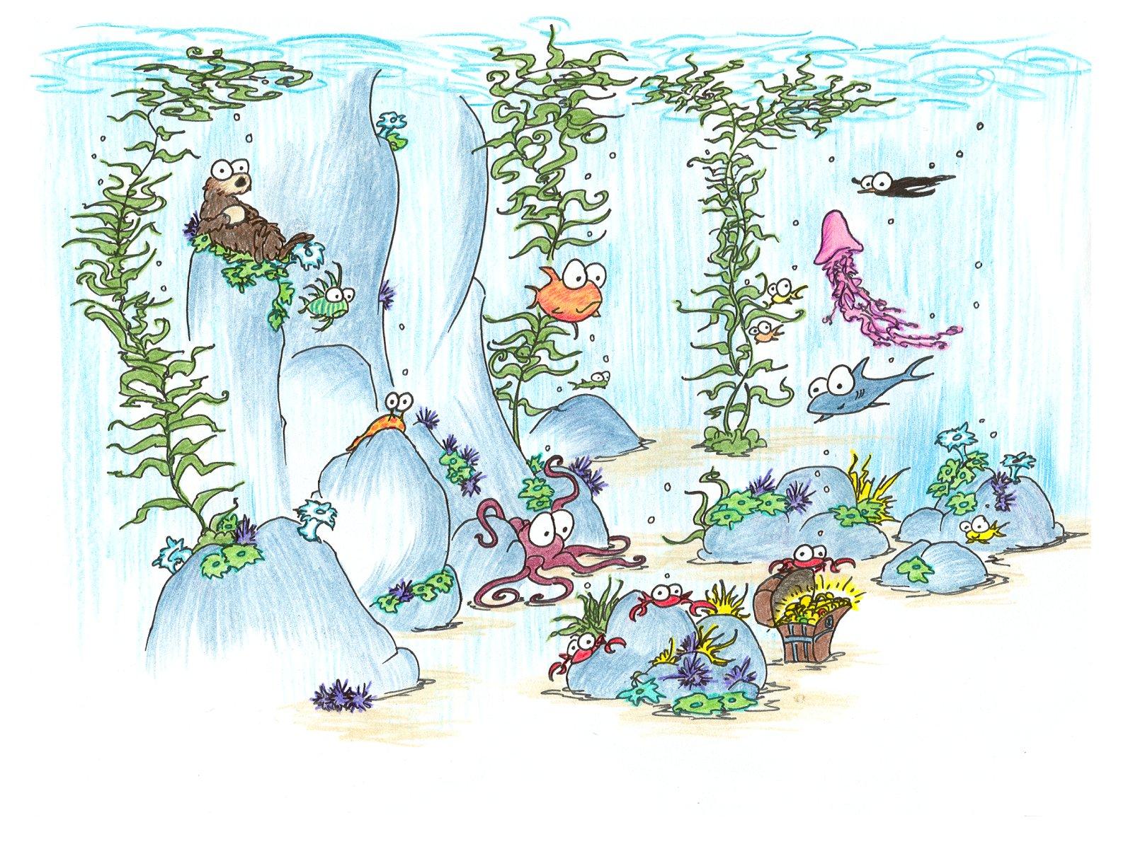 Sea Kelp Drawing 1280 px