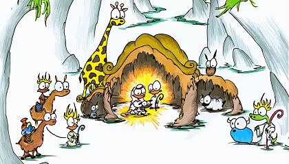 a christmas screen background of a nativity scene with monkeys, llamas, alligator, owl, giraffe, sheep, rat, bison, and a wiener dog for the baby jesus
