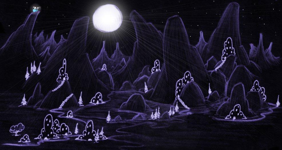 wallpaper moon. screen ackgrounds: moon over