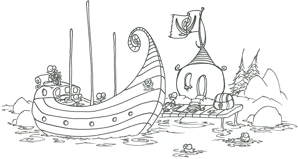 coloring pages monkey pirates loading a treasure chest