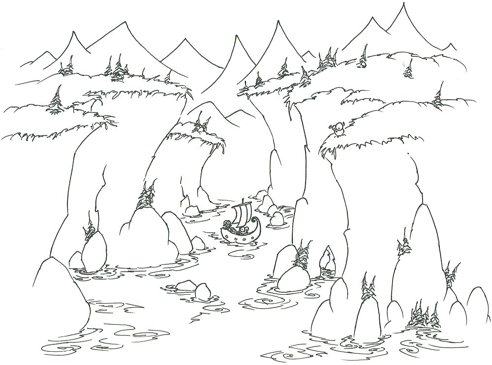 valley landforms coloring pages - photo#21