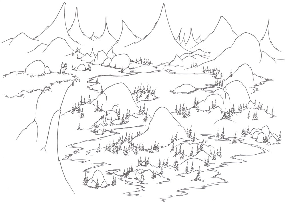 coloring pages: a yellow bellied marmot in Yosemite | bluebison.net