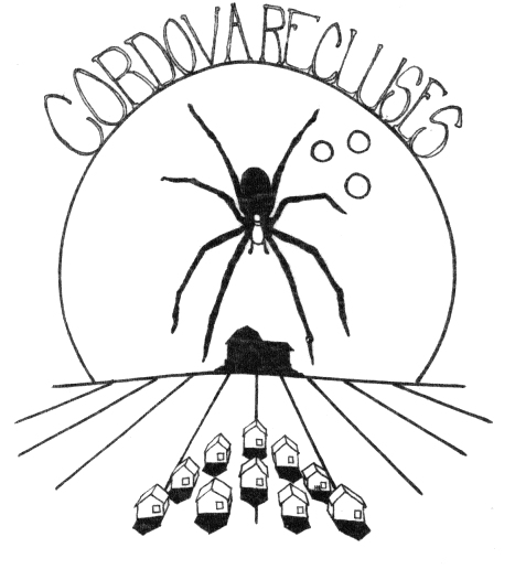logo for a brown recluse bowling team