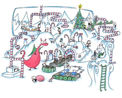 christmas present factory