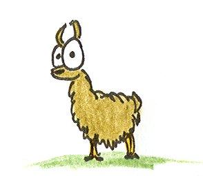 a cartoon llama