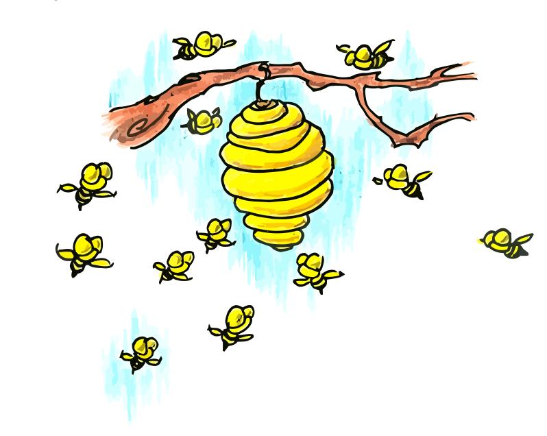 Cartoon Bee Hive