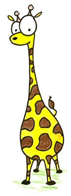 a cartoon drawing of a giraffe