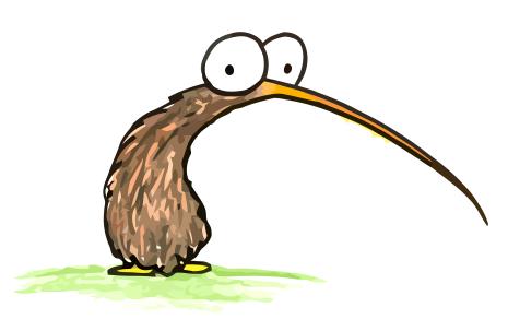 Kiwi Cartoon Drawing a Cartoon Drawing of a Kiwi