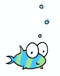 cartoon illustration of a fish