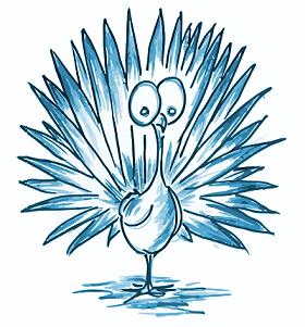 cartoon drawing of a turkey ghost