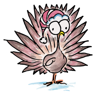 drawing of a turkey for christmas