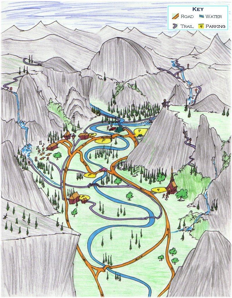 Maps Map Yosemite – Yosemite Tourist Map